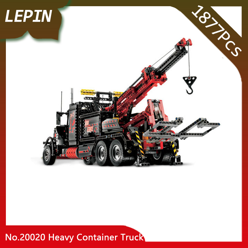 Lepin 20020 The American Style Heavy Container Truck Set 8285 Technic Mechanical Ultimate Series 1877pcs Building Blcoks Bricks lepin 20076 technic series the mack big