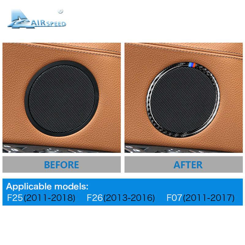 Airspeed สำหรับ BMW F25 X3 X4 F26 X4 BMW F26 F07 สติกเกอร์สำหรับ BMW X3 F25 คาร์บอนไฟเบอร์ภายใน Trim สติ๊กเกอร์รถประตูลำโพงแหวน