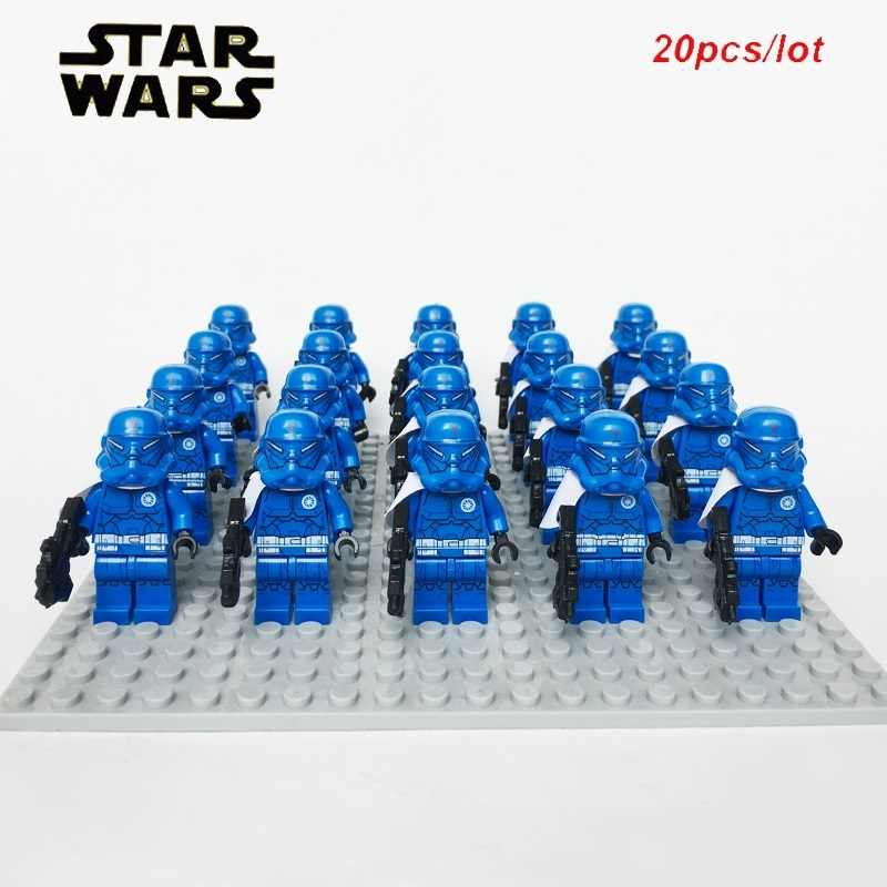 NEW 20pcs/lot Sta-Wars Clone Trooper Sw478 Special Forces aus Set with gun Compatible 75018 Model block kids toys for Christmas