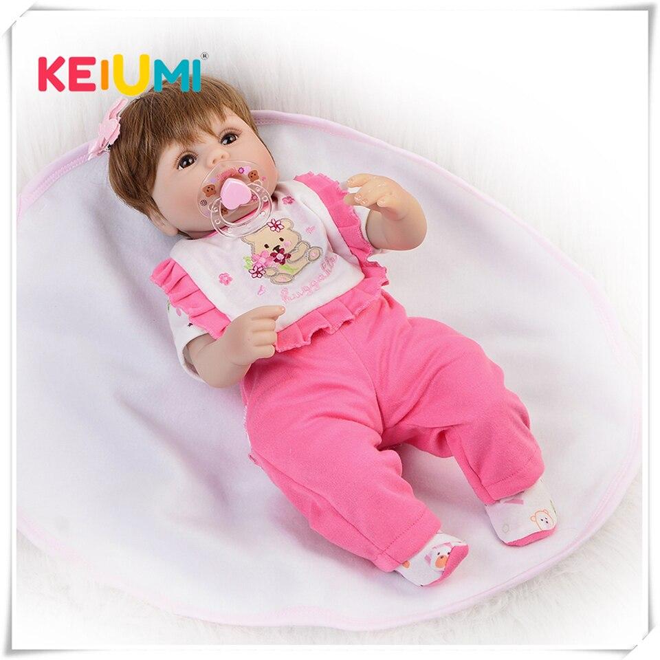 Новорожденных кукла 40 см жив для маленьких девочек игрушки Реалистичные мягкие силиконовые возрождается куклы младенца 16 ручной Reborn Bonecas Р...