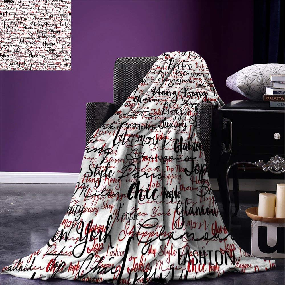 Us 21 22 40 Off Modern Throw Ink Handwritten Por Country Capitals With Fashion Fancy Words Artwork Warm Microfiber Blanket In Blankets From Home