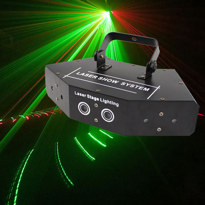 DMX 512 Fan-shaped Six-eye Scanning RGB Laser Light For DJ Disco Club Stage Event Show Party Effect Light With Sound Control
