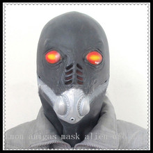 Black Alien Latex Full Face UFO Mask Halloween Carnival Man MaskFor Adult Party Toy Props Party