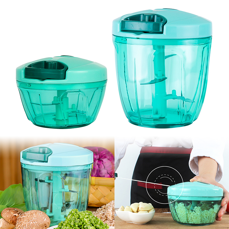 Manual Fruit Vegetable Chopper Hand Pull Food Cutter Onion Nuts