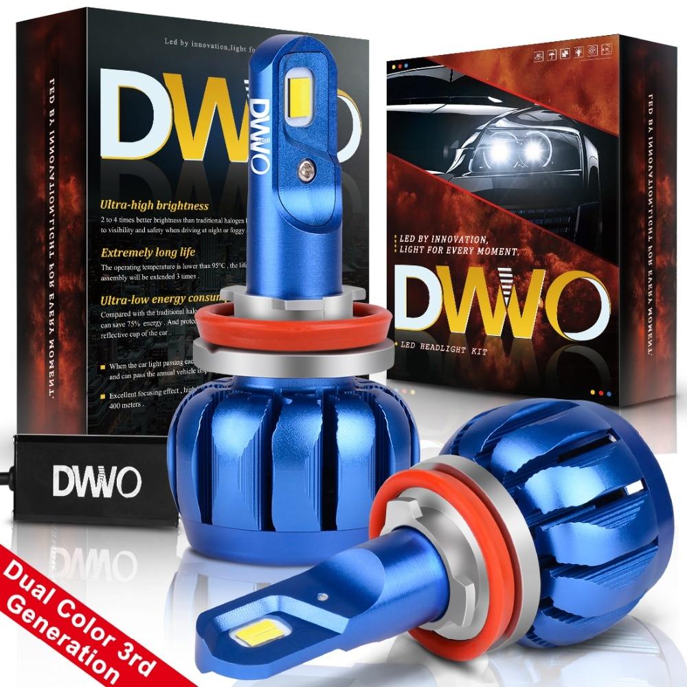 Car Headlight Bulbs(led) Brilliant H11 Led Car Headlight Bulb Hi-lo Beam Auto Headlamp Led Headlights For Bmw/audi/vw/ford/toyota/honda 6000k And 3000k Dual Color
