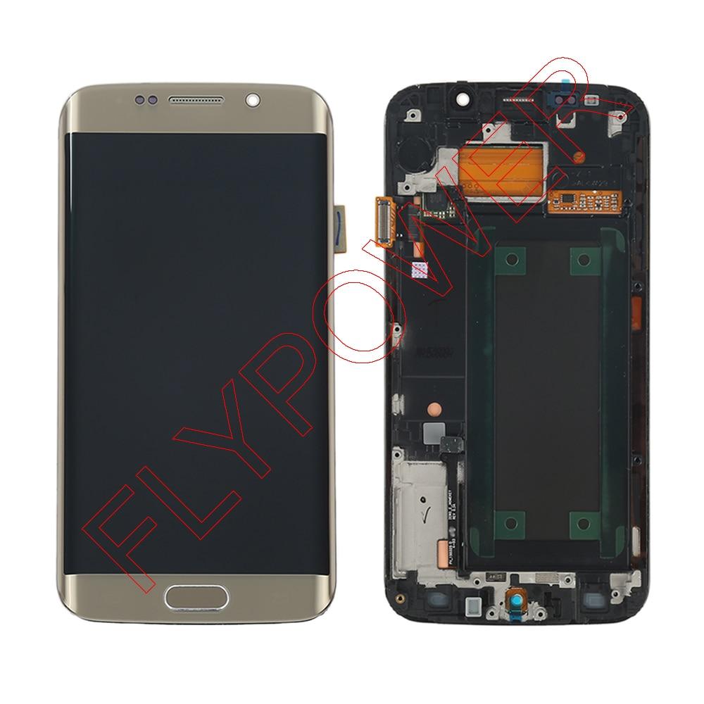 For Samsung Galaxy S6 Edge G925F LCD Digitizer Assembly Frame samsung sm g925f galaxy s6 edge 32 gb emerald
