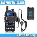 W/Extra UV-5X Versão Atualizada de Baofeng UV-5R BAOFENG Bateria w/Placa Principal Original UHF + VHF Duplo banda Walkie Talkie