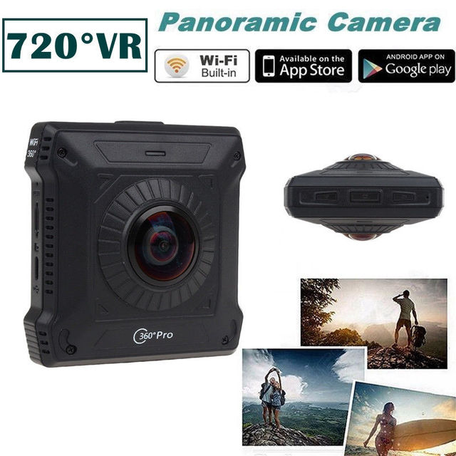 Free shipping!VR Virtual Reality Dual Lens Camera 360 degree Pro Action Camera 1080 Panoramic Wifi