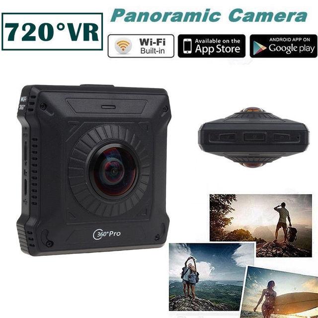 Frete grátis! VR Realidade Virtual Dual Lens Camera 360 graus Pro Ação Câmera Panorâmica 1080 Wi-fi