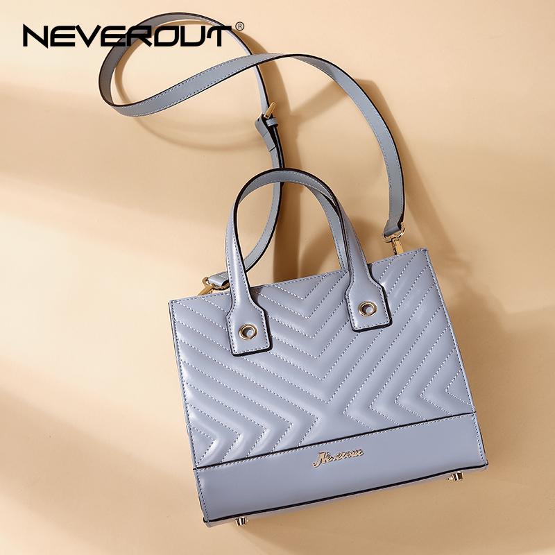 NEVEROUT 2 Color Luxury Brand High Quality Bags Solid Split Leather Handbag Women Lady Handbags Tote Shoulder Sac Evening Bag neverout oil wax style split leather bag for women vintage boston bag shoulder sac 3 color handbags tote zipper tote new handbag