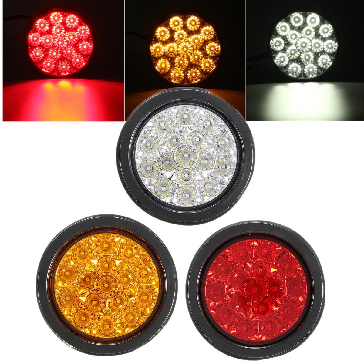 12V waterproof LED Car Truck Round Reflector Rear Tail Light Signal Warning Lights Rear Brake Stop Light
