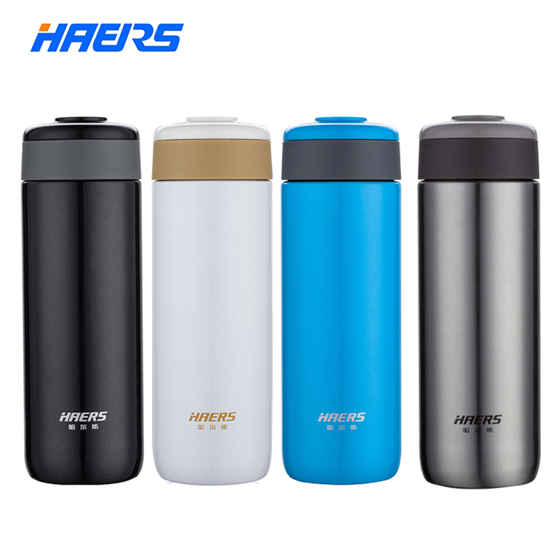 Haers 300ML Ceramic Water Bottle Healthy Inner Ceramic Outer Stainless Steel Brand Bottle High Quality Coffee