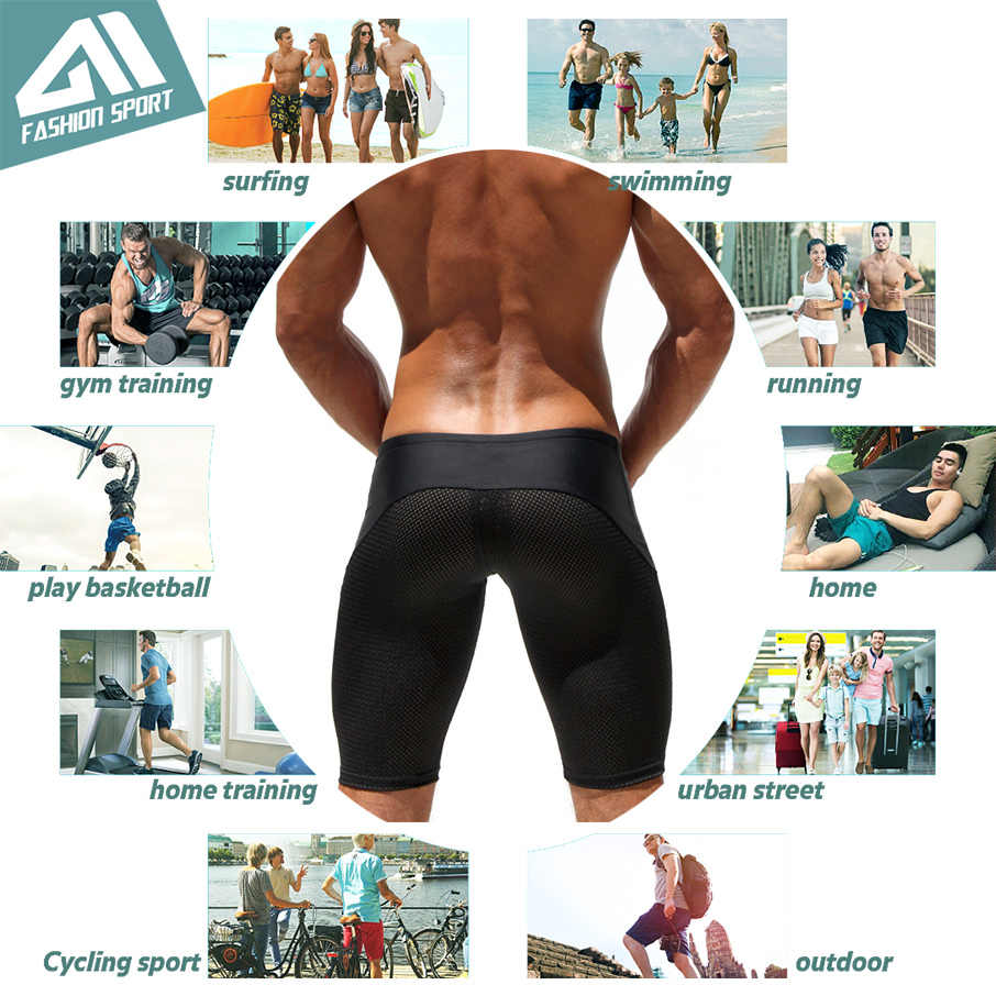 6cc47087a27 ... Athletic Men's Sport Tight Shorts Leisure Summer Fitted Gym Men Workout  Shorts Skinny Running Yoga Fight