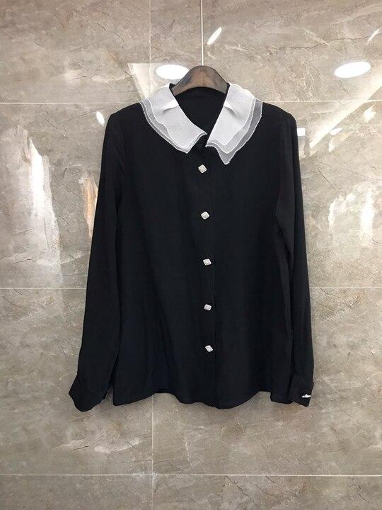 Nouveau Femme Vêtement 2019 Chemise 226 Pour Mode Nail Gamme De Collier Haut Forage 011dqS