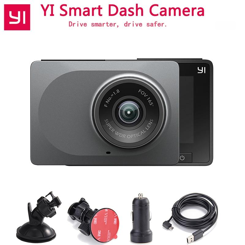 """[Édition internationale] YI Smart Car DVR Vision nocturne 2.7 """"165 degrés 1080P 60fps détecteur de voiture ADAS rappel sûr Dashcam"""
