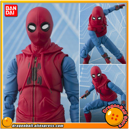 Spider-Man: Homecoming Original BANDAI Tamashii Nations S.H. Figuarts SHF Exclusive Action Figure - Spider-Man Home Made Suit anime captain america civil war original bandai tamashii nations shf s h figuarts action figure ant man