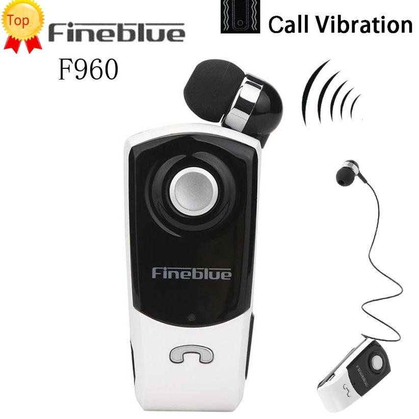 FineBlue F960 Wireless Driver Bluetooth Earphone Call Remind Vibration Wear Clip Headset Sport Bluetooth Headphone Auriculares
