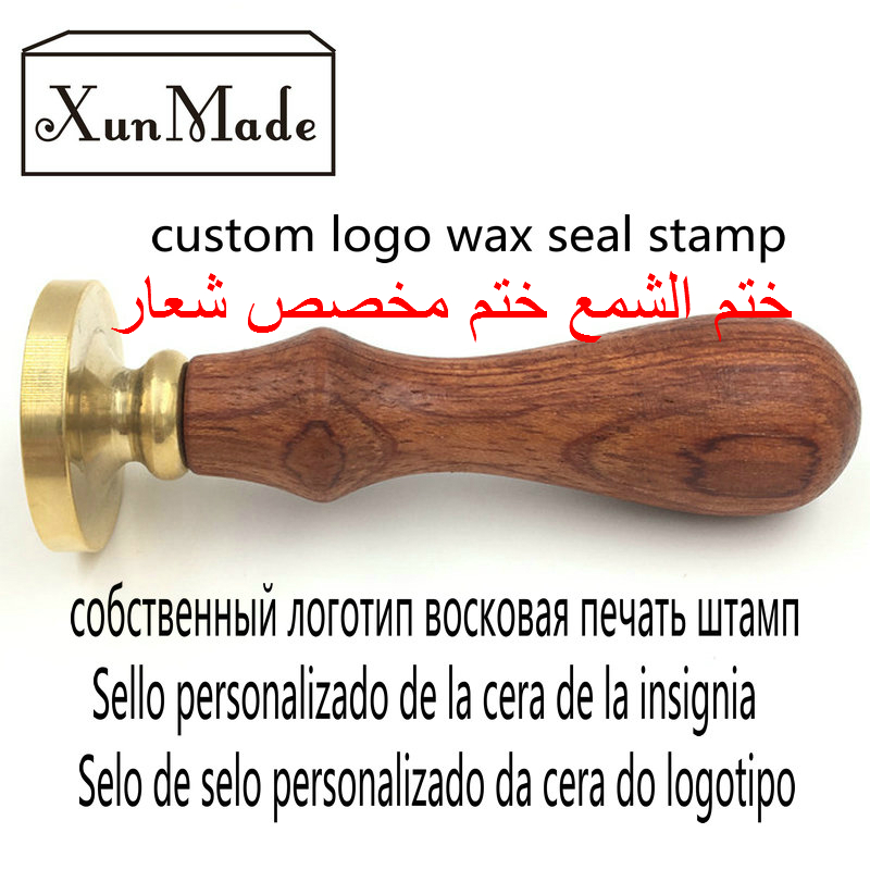 customize logo Personalized image custom seal wax sealing stamp wedding Invitation Retro wood arabic Foreign language wax stamp personalized printing labels custom stickers wedding stickers printed logo transparent clear adhesive round label gift tags h006