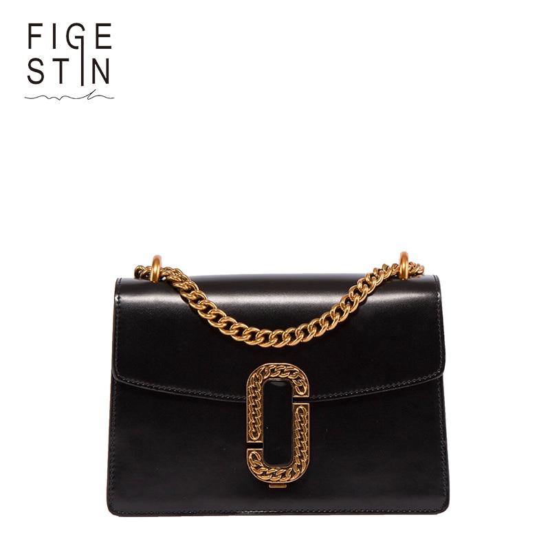 ФОТО FIGESTIN Women Shoulder's Bags Fashion Split-leather Black/Red/Green/Brown Lock Designer Lady Hand Bags Vintage Crossbody Bag