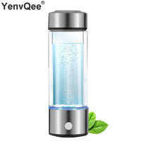 600ML Portable Hydrogen Generator Water Filter Ionizer Pure H2 PEM Rich Hydrogen alkaline Bottle Electrolysis Drink Hydrogen