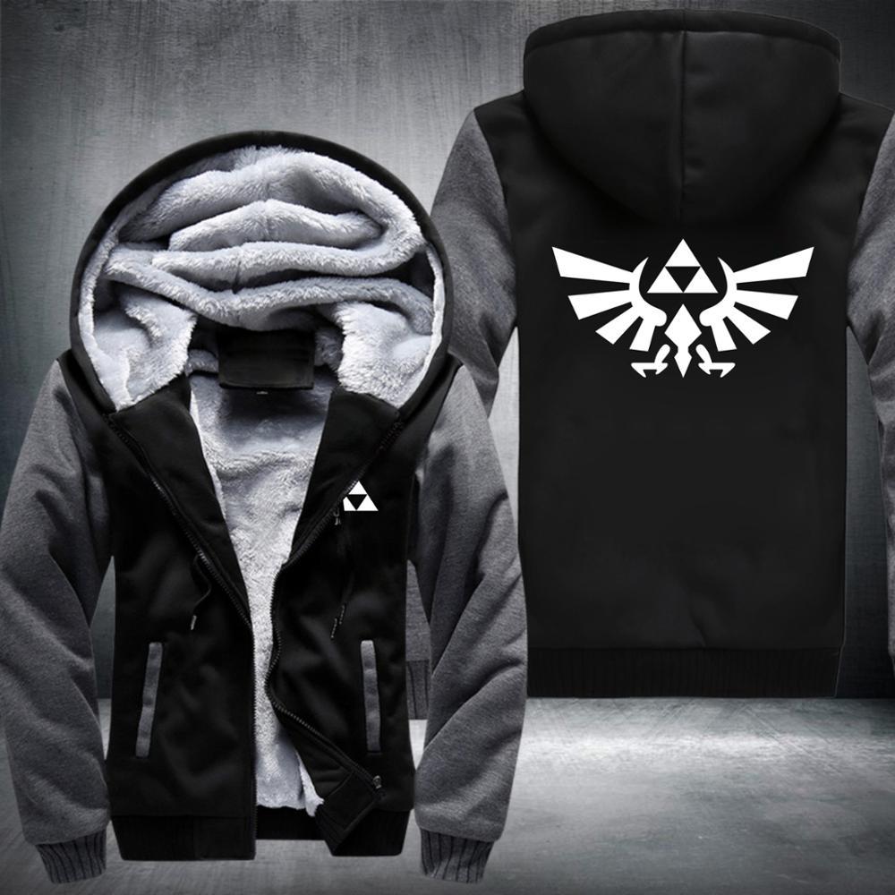 The Legend of Zelda Anime Hoodies Sweatshirt 2018 Winter Jacket Warm Hoodie Men Thick Hooded Hipster Streetwear Hip Hop Ches
