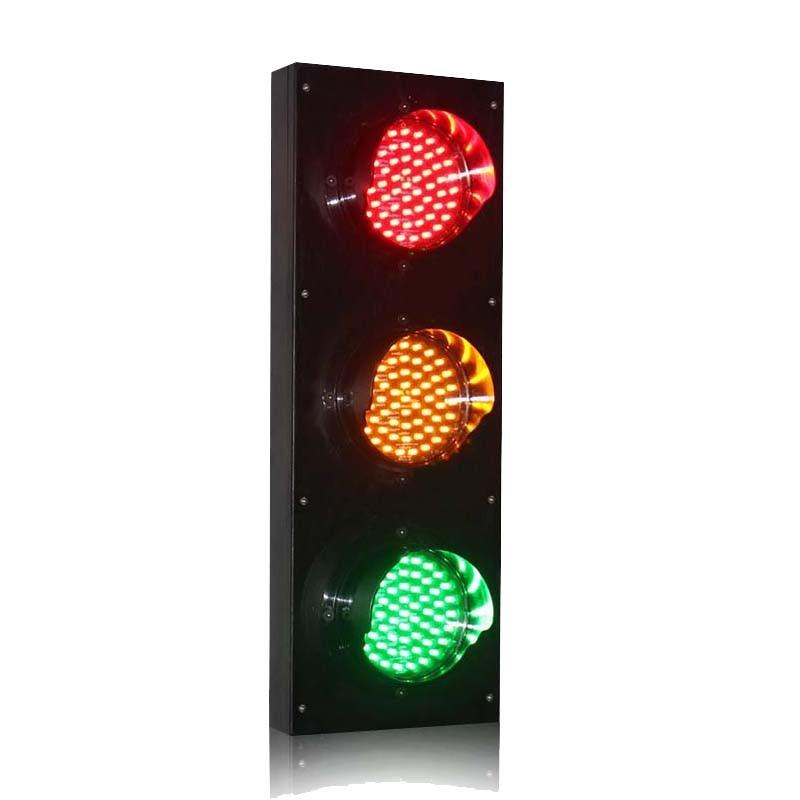 DC24V High Quality 125mm Red Yellow Green Traffic Signal Light For School Teaching Parking Lots