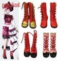 Papabasi 7.8 см ИСКУССТВЕННАЯ Кожа Куклы Сапоги Для 16 inch 1/4 Куклы fit BJD SD 60 см куклы Обувь