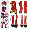 Papabasi 7.8cm PU Leather Dolls Boots For 16inch 1/4 Dolls fit BJD SD 60cm dolls Shoes