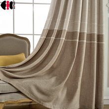 sheer curtain fabric solid color for living room Curtains For Living Room Stripes Blackout Curtain damask
