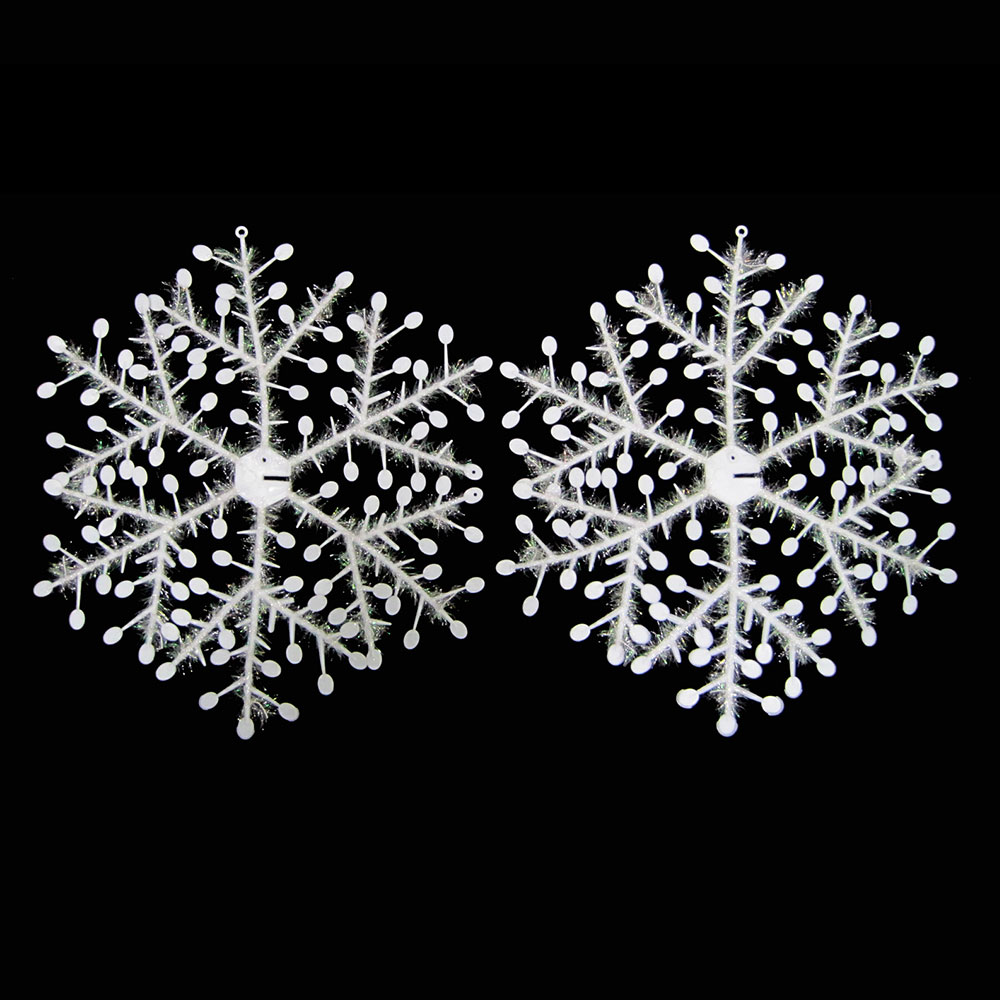 Snowflakes ornaments - 4pcs 18 45cm Snowflake Christmas Tree Decoration Ornaments 3d Snowflakes Glitter Twisted Effect Vivid Snowflakes