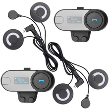 FreedConn Brand,LCD Screen! With FM Radio! 2 pcs BT Interphone Bluetooth Motorcycle Helmet Headset Intercom with Soft Headphone