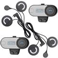 FreedConn Marca, Pantalla LCD! con la Radio FM! 2 unids Auriculares BT Interphone Bluetooth Casco de La Motocicleta Auriculares Intercom con Suave