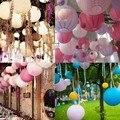 Opción de color Mulit 8 '' ( 20 cm ) linterna de papel china lámpara redonda decoración de la boda glim decoración del festival partido Lampion scaldfish