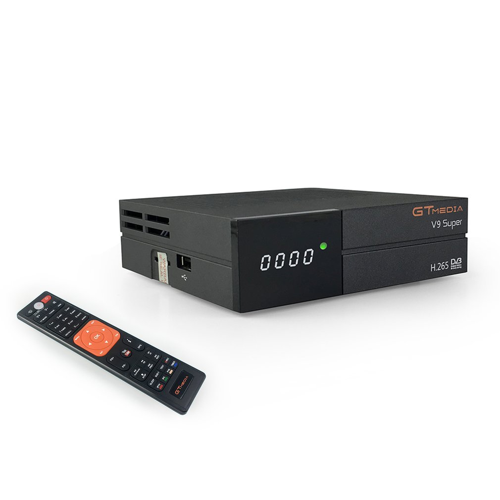 Récepteur Satellite de récepteur de télévision DVB-S2 H.265 Super fonctionnel noir multifonctionnel V9