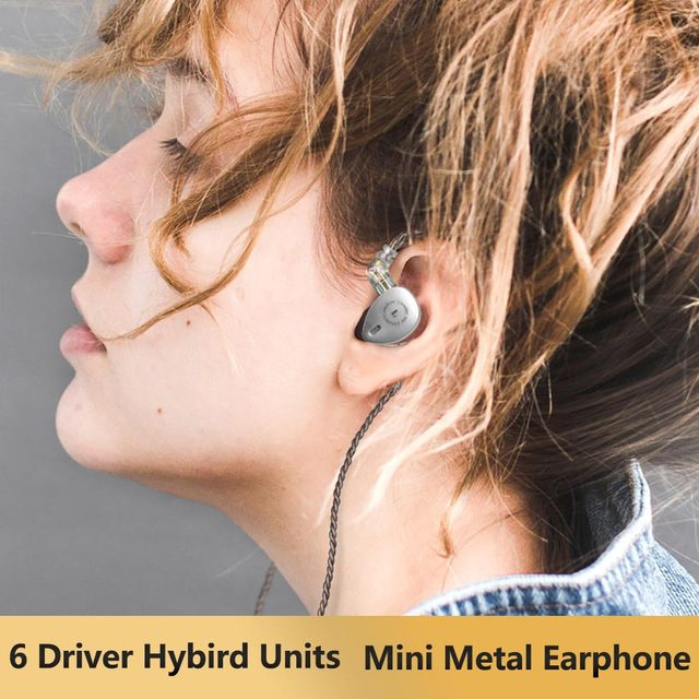 AK KB OHR KB06 6 Fahrer 2BA + 1DD Hybird Technologie in Ohr Kopfhörer Bass DJ Laufende Sport HIFI Headset mini Ohrhörer KEEAR F1/KB10