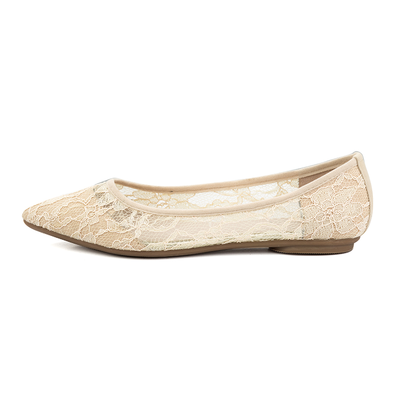 Moda Suave Henscarying Lujo Verano on De Mujer Beige Encaje Zapatos gris Slip Diseñador 2018 Casuales Marca Chicas negro Bailarina Pisos La wtEI7qI