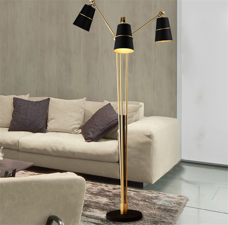 Post modern angle adjustable three arms 2 colors floor lamps with post modern angle adjustable three arms 2 colors floor lamps with plug and foot switch for living room bedroom reading room in floor lamps from lights aloadofball Images