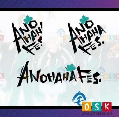 Pegatina аниме мультфильм автомобиль Стикеры AnoHana цветка мы видели в тот день логотип винил стены Стикеры Наклейка Декор