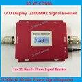 Pantalla LCD! Mini W-CDMA UMTS 3G Repetidor, 3G celular amplificador de señal, WCDMA 2100 mhz Teléfono Móvil amplificador de Señal del Repetidor