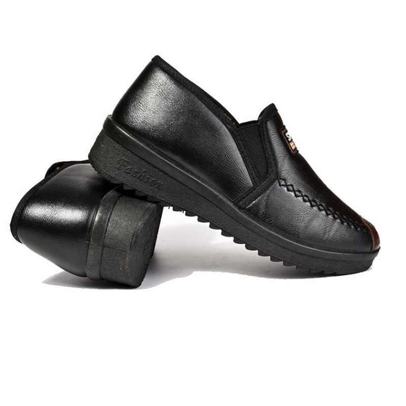 YENI Kadın Kış Peluş Sıcak Kar Botları Su Geçirmez Platformu PU deri Kürk yarım çizmeler Ayakkabı eski bayanlar kış çizmeler ayakkabı