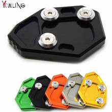 CNC Motorcycle  Side Kickstand Stand Extension Plate SIDE STAND ENLARGER For BMW S1000R S1000 R 2013 2014 2015 2016 цена и фото
