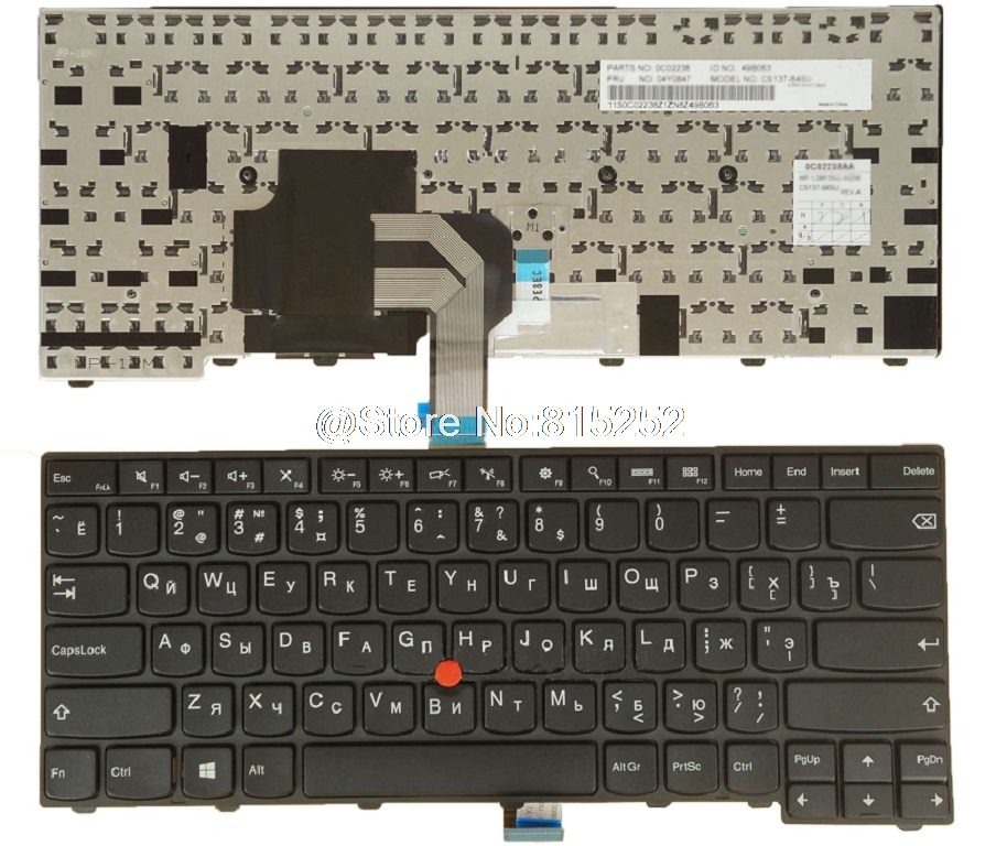 keyboard for Lenovo For Thinkpad T440 T440P T440S T431S T450 T460 E431 E440 Russia RU 04X0124 04X0162 0C43929 With Backlit New new laptop keyboard for asus g74 g74sx 04gn562ksp00 1 okno l81sp001 backlit sp spain us layout