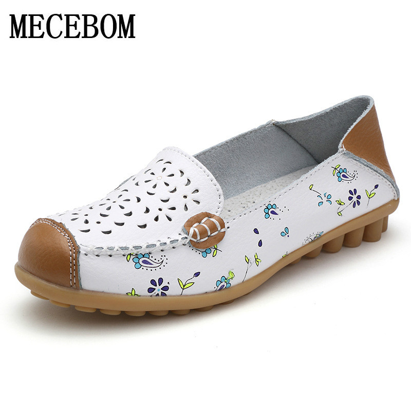 2018 Shoes Woman Leather Women Shoes Flats Colors footwear Loafers  Moccasins Slip On Women's Flat Shoes Plus Size ballet 459W 2017 new leather women flats moccasins loafers wild driving women casual shoes leisure concise flat in 7 colors footwear 918w