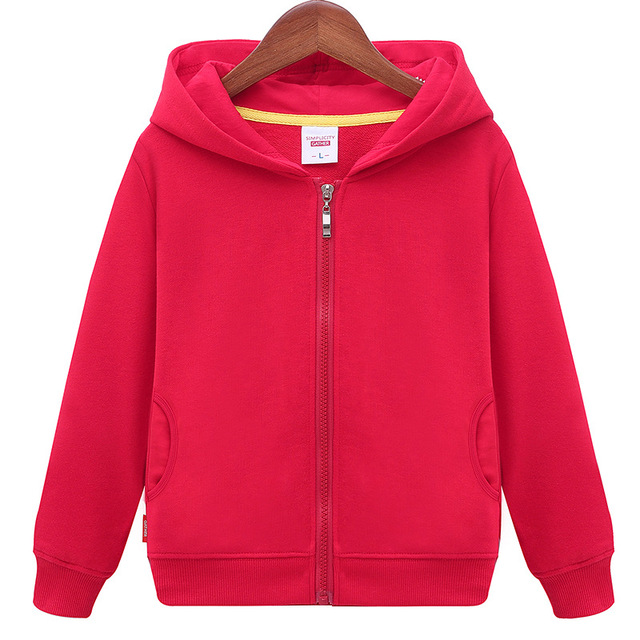 2018 Spring Autumn New fashion Children's Hoodie Sweater Coat Boys Girls High Quality Cotton Solid Sports Leisure Kid Clothes  5