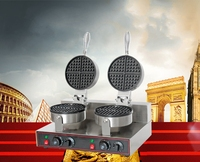 Hot Sales 2000W ITOP Electric Waffle Maker Double Heads Waffle Machine Non Stick Waffle Grill 220V