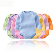 Baby clothes boy romper baby winter clothes new born Long Sleeve Kids Boys Jumpsuit baby girl clothes infant onesie costume cheap Bodysuits Fashion COTTON Unisex Solid Full O-Neck baby rompers Fits true to size take your normal size