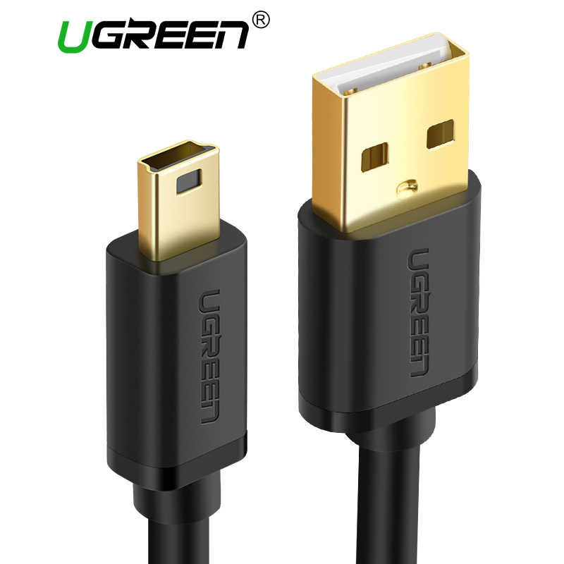 Ugreen Cable Mini USB a USB Datos rápidos para el Cable del cargador de MP3 MP4 jugador coche DVR GPS cámara Digital HDD Mini USB