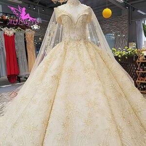 Image 5 - Aijingyu 새로운 웨딩 드레스 결혼 착용 가운 신부 디자이너 최신 vintages 간단하고 가운 소녀 웨딩 드레스