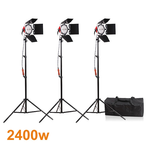 Photography Studio Continuous Lighting Kits 800W Video Red Head Continuous Light*3 with 200cm Light Stand*3 Photo Studio Set professional godox ql1000 1000w photo photography studio video continuous light lighting