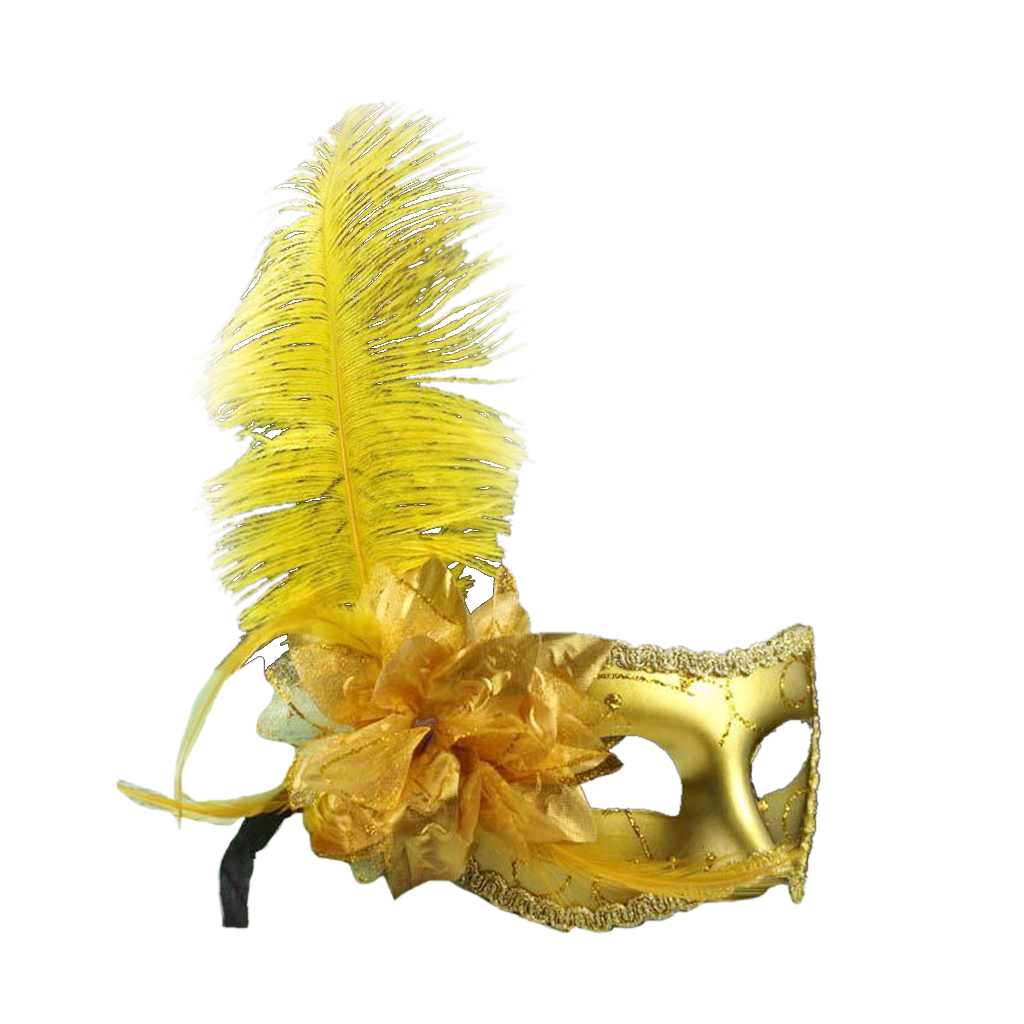 New Hot Feather Flower Mask Masquerade Ball Party Eye Mask Venetian ...